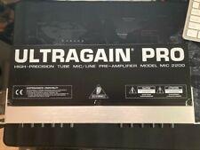 Behringer Ultragain Pro Mic2200 Tube Pre Amplifier Excellent Condition