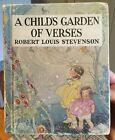 A Child's Garden of Verses Robert Louis Stevenson McNally 1935 Antique OLD Book