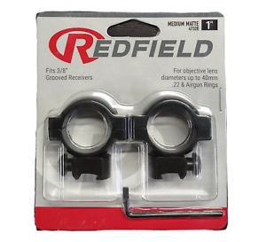 "Redfield Aluminum Scope Mount Rings 22 Caliber 1"" 50mm Dovetail Black 47320"