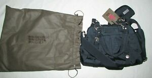 George Gina & Lucy Navy Blye Purse with Coin Purse Keychain NEW Retail $125