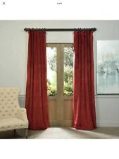 Signature Burgundy Blackout Velvet Pole Pocket Single Panel Curtain, 50 X 96