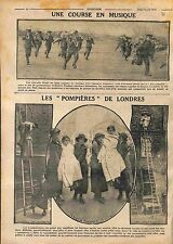 Musicians British Army London Maneuvers Women Firefighter Large scale WWI 1916