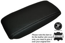 GREY STICH NON SLIDING ARMREST LID LEATHER SKIN COVER FITS JAGUAR X-TYPE 01-09