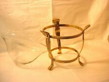 Vtg Brass Metal Stand Floating Candle Gazing Ball Holder 2 Piece