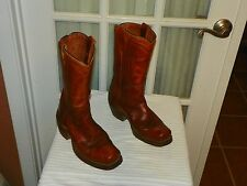 Men's DURANGO WEST Vintage Square toe Cowboy  Boots Size 6.5 EE made in USA