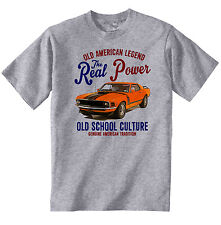 VINTAGE AMERICAN CAR FORD MUSTANG BOSS 302 3 - NEW COTTON T-SHIRT