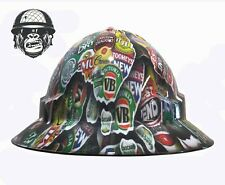 Custom Hydrographic Safety Construction Mining Hard Hat AUSSIE BEERS WIDE
