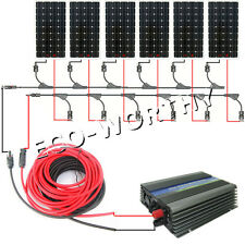 960Watt On Grid KIT:6*160W Mono Solar Panel+ 1000W Pure Sine Inverter 12V Home