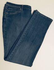 Chico's Platinum Abalone RG Jean Womens Size 3 XL 16 Straight Leg 5 pocket