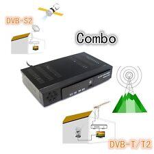 Hot EU Full HD 1080P DVB-T2+S2 Video Broadcasting Satellite Receiver Box TV HDTV