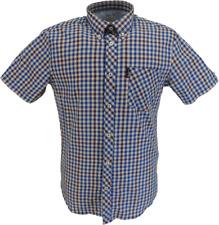 Ben Sherman Mens Persian Blue Signature House Check Shirt