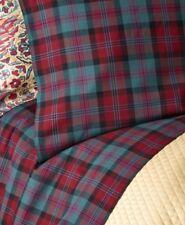 Ralph Lauren Ardmore Plaid Bohemian Muse Burgundy/Green 2 Standard Pillowcases