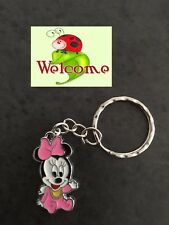 DISNEY BABY PINK MINNIE MOUSE HEAD KEYRING CHAIN GREAT VALUE AUS SELLER 12W