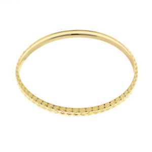 Pre Owned 9ct Patterned Slave Bangle