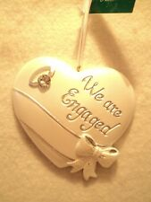 """Kurt S Adler """"WE ARE ENGAGED HEART ORNAMENT"""" ~ FOR PERSONALIZATION"""