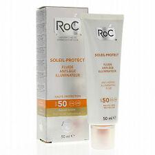 RoC Soleil Fluido Solare Anti-età Illuminante SPF 50 Protezione Viso 50 ml