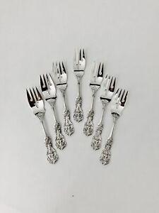 Francis I Reed & Barton Sterling Silver Salad  Forks (7) Mono