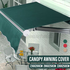 Garden Awning Canopy Patio Sun Shade Shelter Replacement Fabric Top Cover+Frill