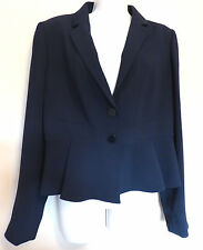 Hobbs London Uk14 Eu42 Navy Blue Millais Long Sleeved and Lined Jacket