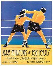 Max Schmeling vs Joe Louis Poster of Program Cover (1936), 8x10 Photo