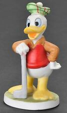 Walt Disney Productions Donald Duck Golfer Figurine Bisque Vintage