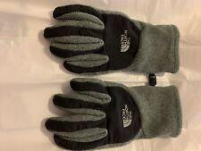 The North Face women's Denali Thermal Etip Gray Black Snow Gloves Medium