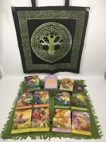 Mystical Wisdom Tarot Set - PLUS Tree of Life Tote & Layout Cloth, Quartz & Bag