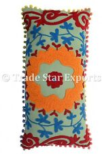 Indian Embroidered Suzani PillowCases Decorative Ethnic Cotton Cushion Cover