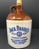 Old Pottery Jug Jack Daniels Old No.7 All Good Worth Vintage JD Tennessee Whisk