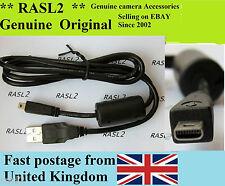 Genuine Pentax USB cable K-30 MX-1 X90 X-5 WG-1 WG-2 WG-3 WG-10 Optio W80 W90