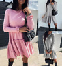 Womens Party Holiday UK Party Short Tops Baggy Home Loose Ladies Mini Dresses