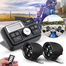 Motorcycle Handlebar Audio System USB/SD FM Radio MP3 Player Stereo Speakers 12V