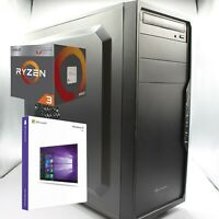 AMD Gaming PC AMD Ryzen 3 2200G | 8GB RAM | 500GB m.2 SSD | Windows 10 Pro