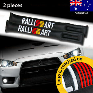 2x For RALLIART Car Seat Space Gap Pad Filler Stopper Leakproof Protector BLACK