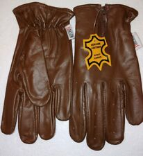 Men's, Brown leather gloves, RAKSON, SIZE Small. (4A)