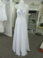 NWT White w/silver Pretty summer informal Wedding, special occassion GOWN sz 00