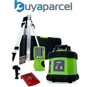 Imex E60 400m Red Rotary Laser Level + LR1 Receiver + Tripod + 2m Staff + Case
