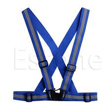 Reflective Adjustable Safety Security Visibility Vest Gear Stripes Sports Jacket