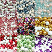 Glass Pearl beads mixed colours 4mm 6mm 8mm 10mm choose your colour
