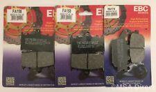 EBC Organic FRONT and REAR Disc Brake Pads fits Suzuki GSX650 (2008 to 2015)