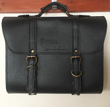 Royal Enfield Bala Moto Moto de cuero laterales equipaje Saddle Bag Color Negro