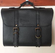 Royal Enfield Bullet Motorcycle Bike  side Luggage saddle Bag Black Color