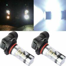 Pair 9140 9145 H10 9005 LED 100W 6000K White Fog Light Driving DRL Lamp Bulbs