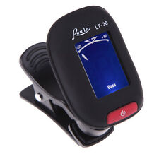Rowin LT-36 Piezo LCD Clip On Chromatic Tuner Guitar,Bass, Ukelele,Violin Black