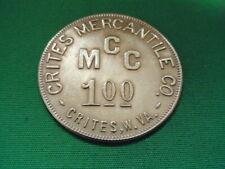 WV Coal Scrip $1.00 Crites Mercantile Company-Crites-WV-Logan County