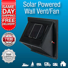 New Solar Powered Wall Vent, Exhaust Fan, Solar Rechargeable Battery