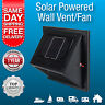New Solar Powered Wall Vent, Exhaust and Intake Fan, Solar Rechargeable Battery