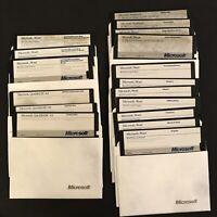 "Microsoft Word 4.0 & QuickBASIC 4.0 Install Disks 5.25"" Floppy 1989"