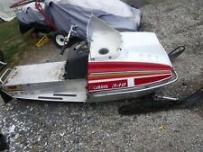 1977 Yamaha 340 Exciter snowmobile parts: Exhaust Pipe