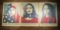 Shepard Fairey Obey Giant WE THE PEOPLE Art Print Poster SET Of 3 Prints 18X24